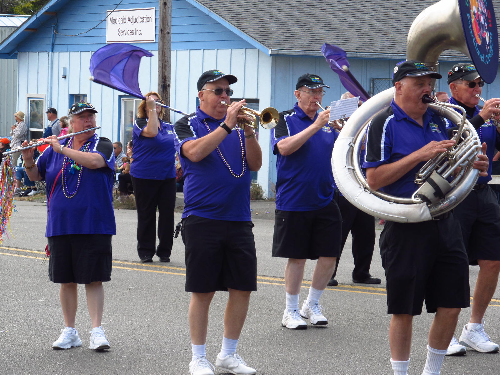 The Beat Goes On Marching Band in Coos Bay, OR Fun Fest. Parade Sept 2017